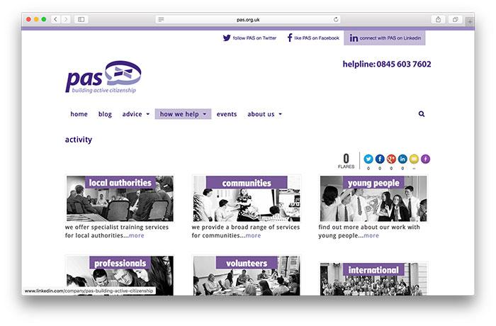 PAS Activity Page