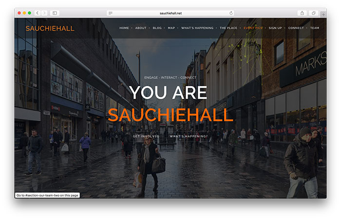 Sauchiehall Welcome Screen