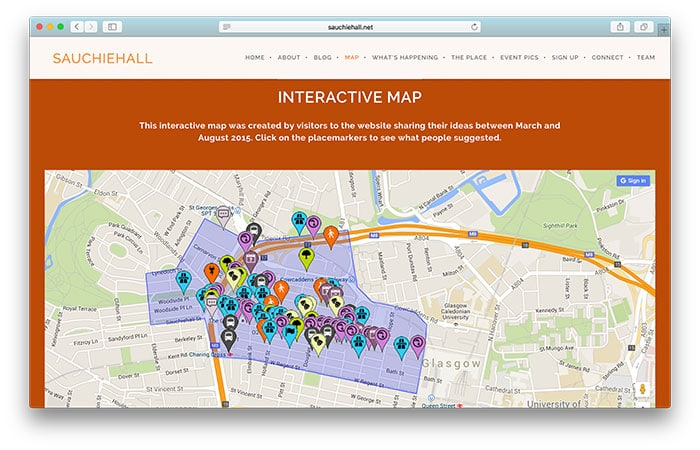 Sauchiehall Interactive Map
